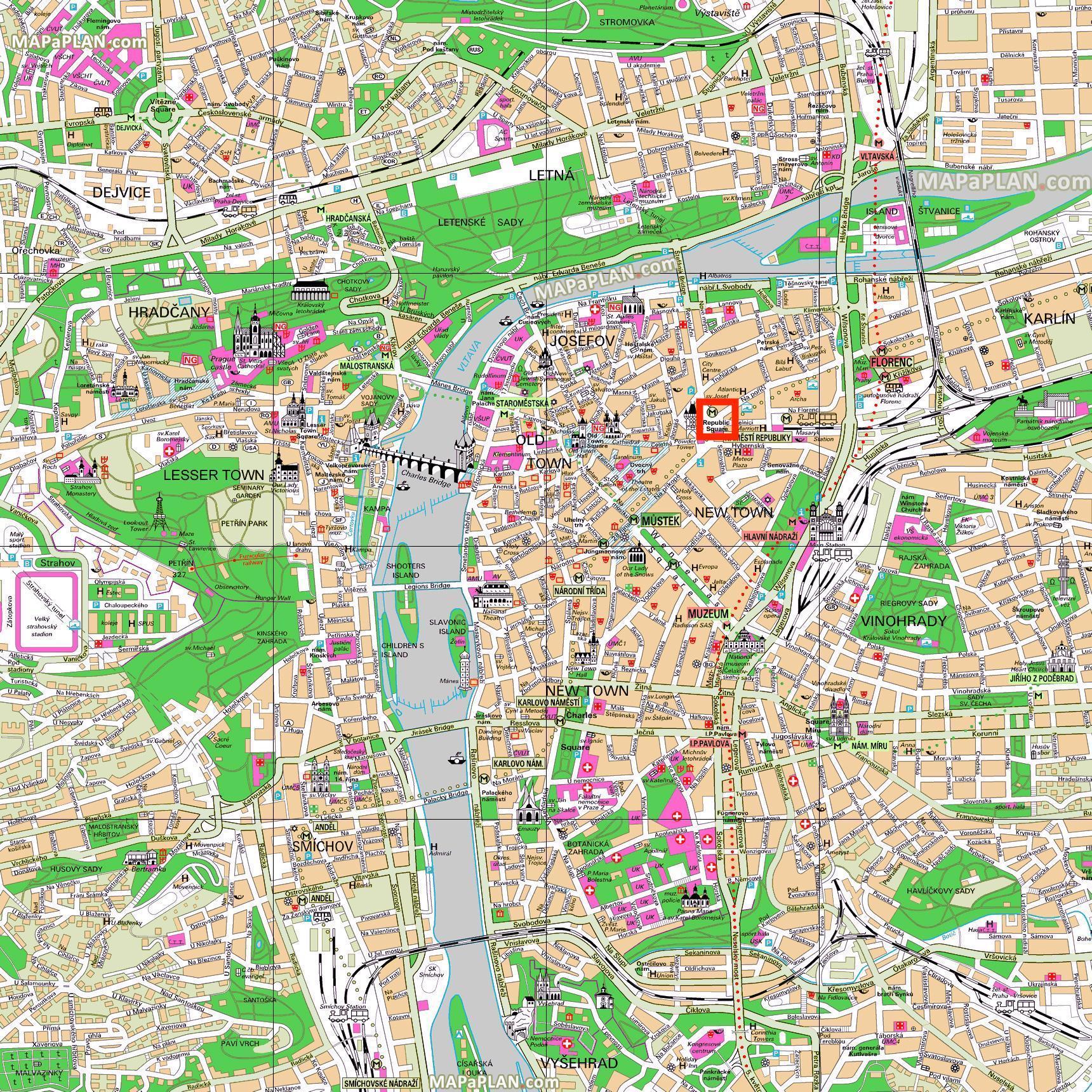 prága térkép Köztársaság tér prága térkép   Térkép köztársaság tér prága